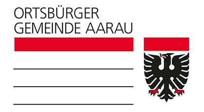 Logo des Goldsponsors «Ortsbürgergemeinde Aarau»